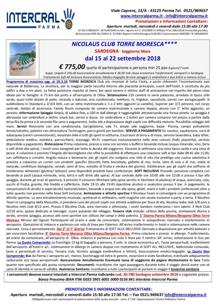 SARDEGNA – SOGGIORNO MARE – Intercral Parma