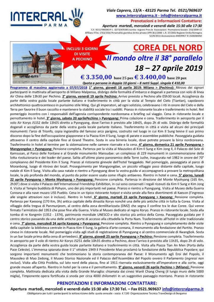 COREA DEL NORD aprile 20191