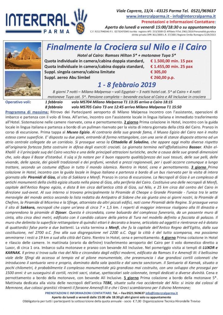 CROCIERA NILO 20191