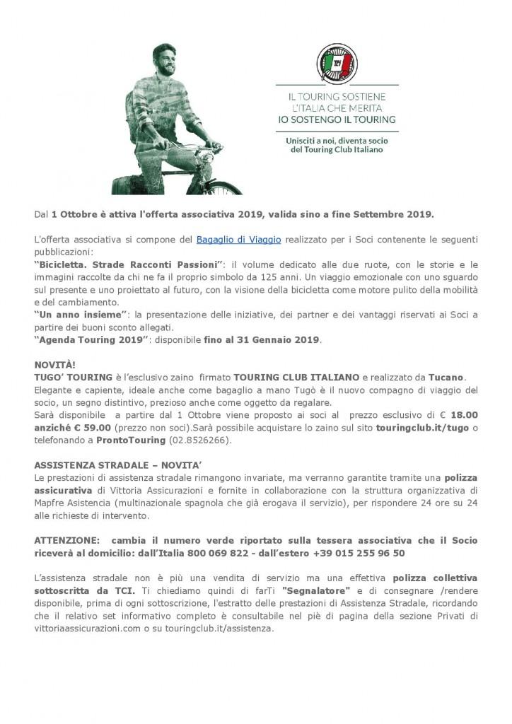 Campagna TCI 2019 Offerta associativa
