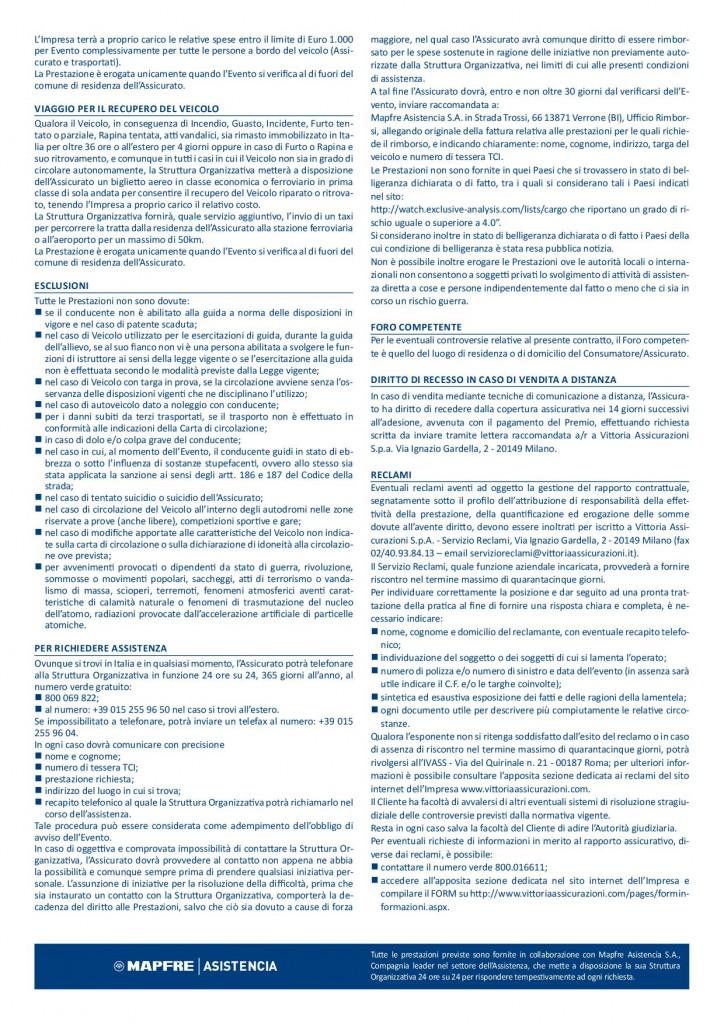VTR-TCI condizioni assistenza stradale 20192