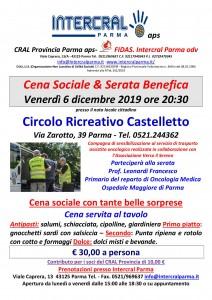 CENA SOCIALE provincia 2019