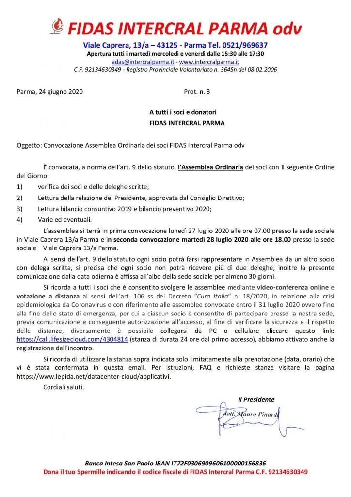 CONVOICAZIONE ASSEMBLEA 2020 fidas