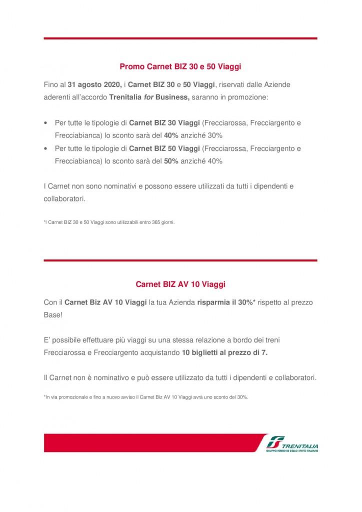 Trenitalia for Business newsletter luglio 20202