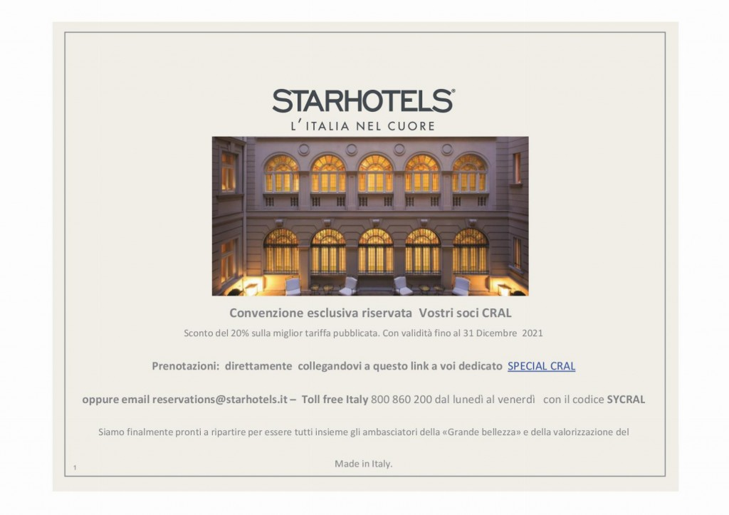 CONVENSIONE STARHOTEL CRALfinal