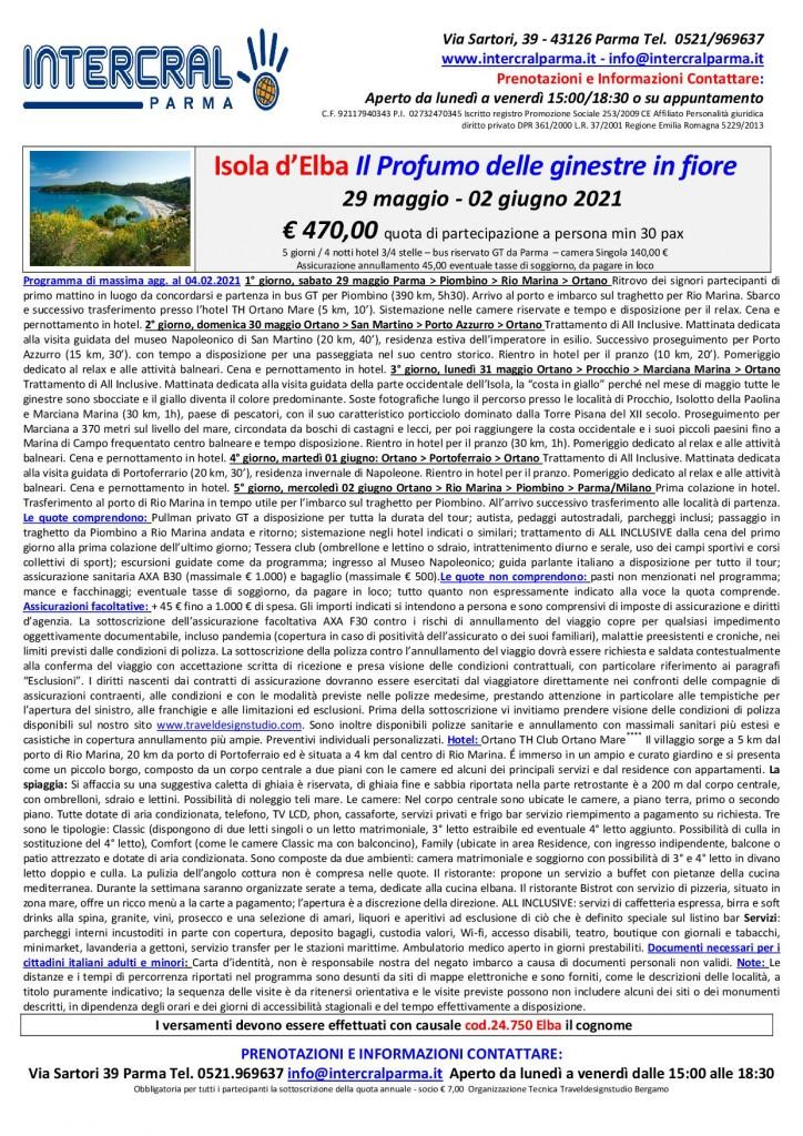 Elba 29 mag - 2 giu 2021