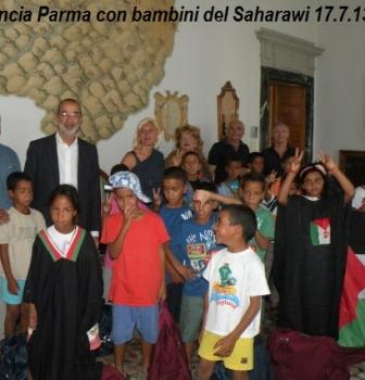 Insieme ai bambini del Saharawi