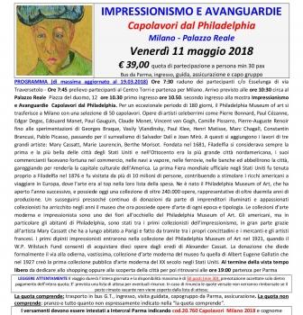 Milano – mostra impressionismo / avanguardie