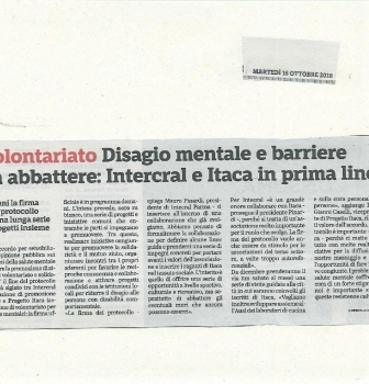 Intercral ed Itaca – Disagio mentale: barriere da abbattere