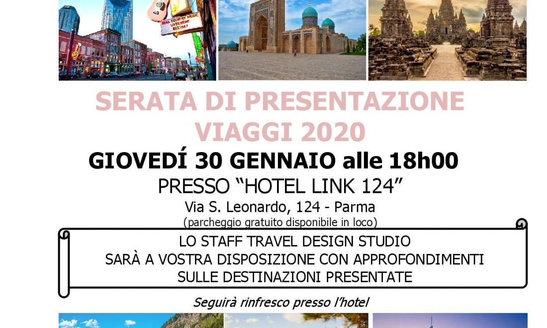 PRESENTIAMO I NOSTRI VIAGGI – 30/01/2020