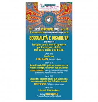 3^ Incontro – Sessualità e disabilità