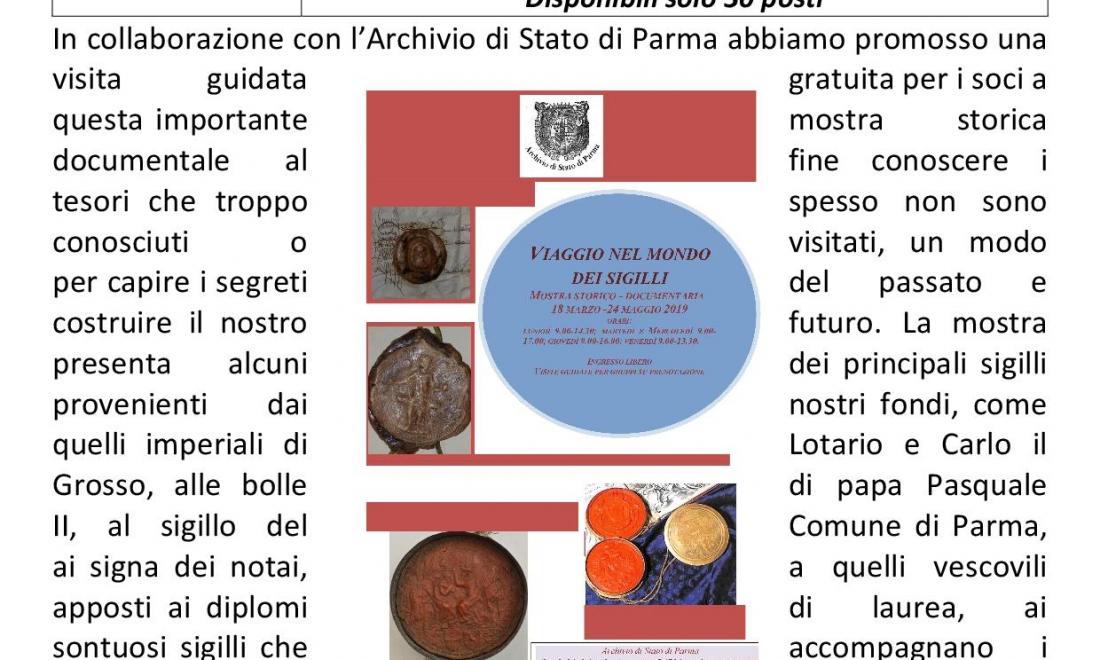 Parma – Archivio di stato – Il mondo dei sigilli