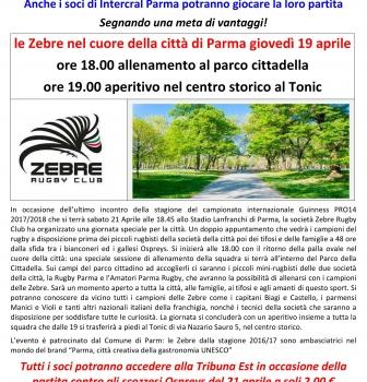 Le Zebre ed i soci Intercralparma in Cittadella