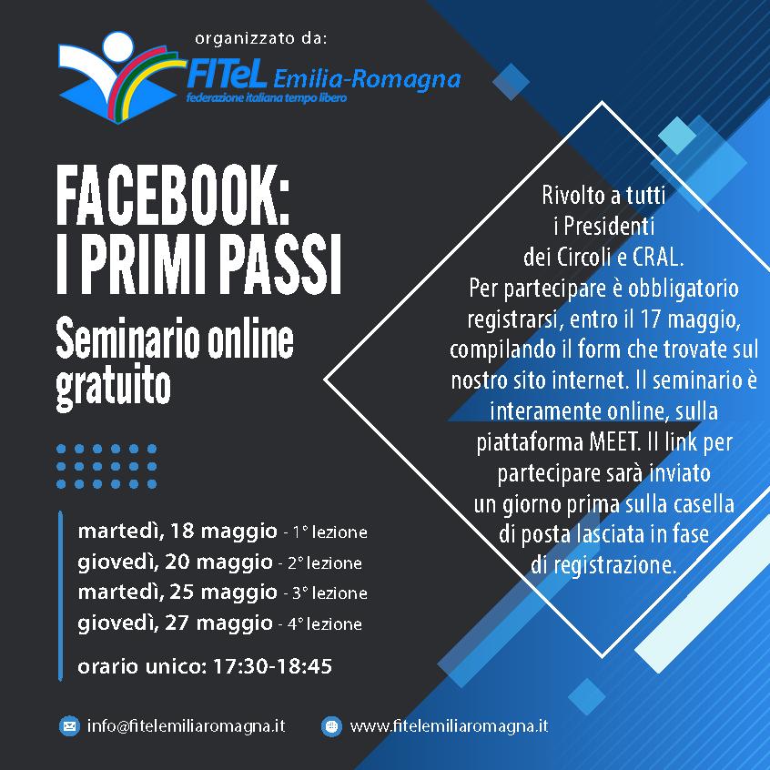CORSO FITEL FACEBOOK PRIMI PASSI 2021