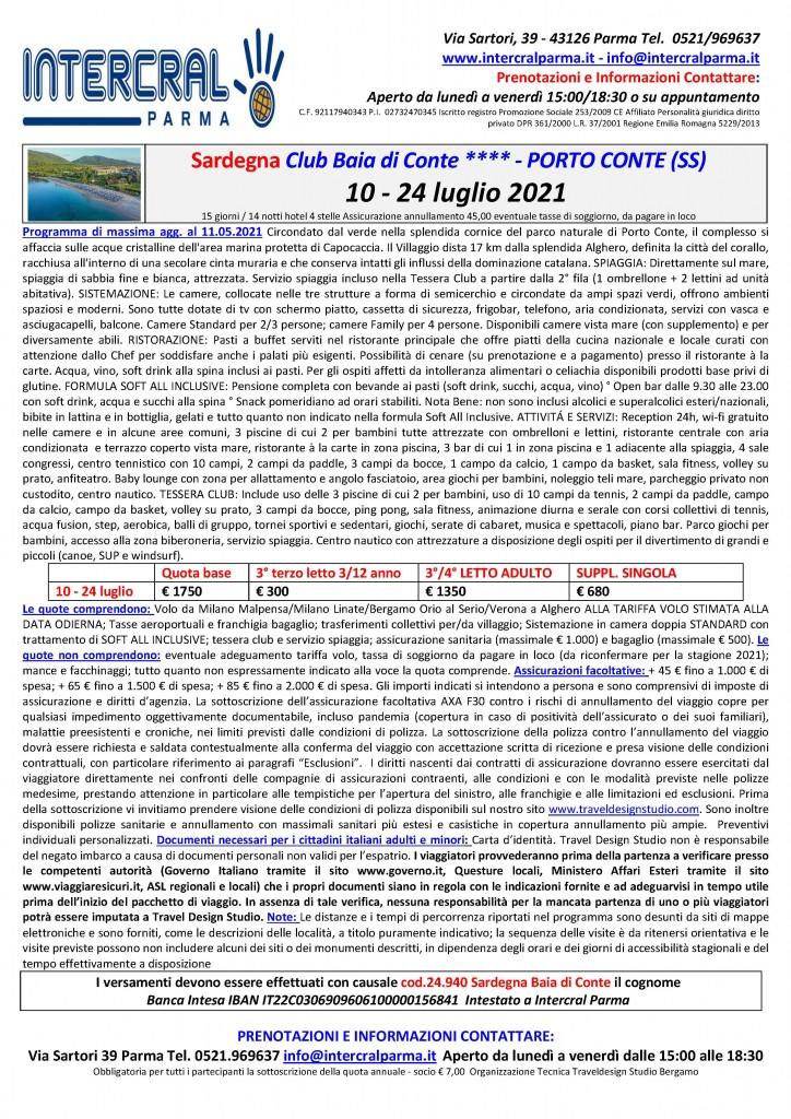 Sardegna mare Baia di Conte 10-24 lug