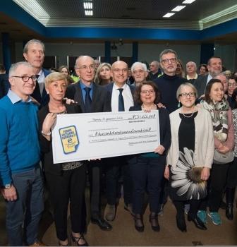 Anolino solidale – la consegna dell'assegno da € 230.000
