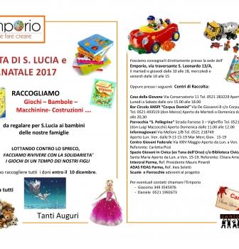 Emporio solidale – raccolta per S. Lucia e Natale